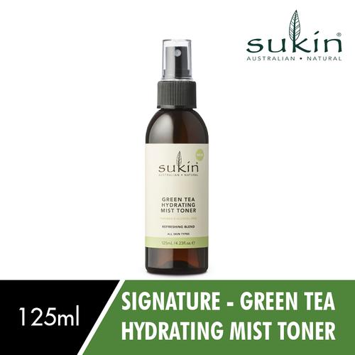 [Auth - có quà] nước hoa hồng trà xanh dưỡng ẩm dạng xịt sukin green tea hydrating mist toner 125ml