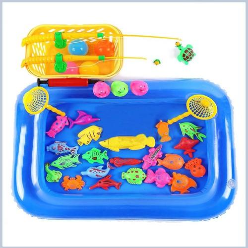 Bộ đồ chơi câu cá kèm bể phao cho trẻ em mới lớn ưa chuộng nhất 2019 21 con vật