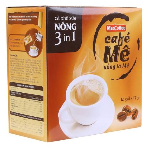 Hộp cà phê mê sữa nóng maccoffee 12 gói x 17g