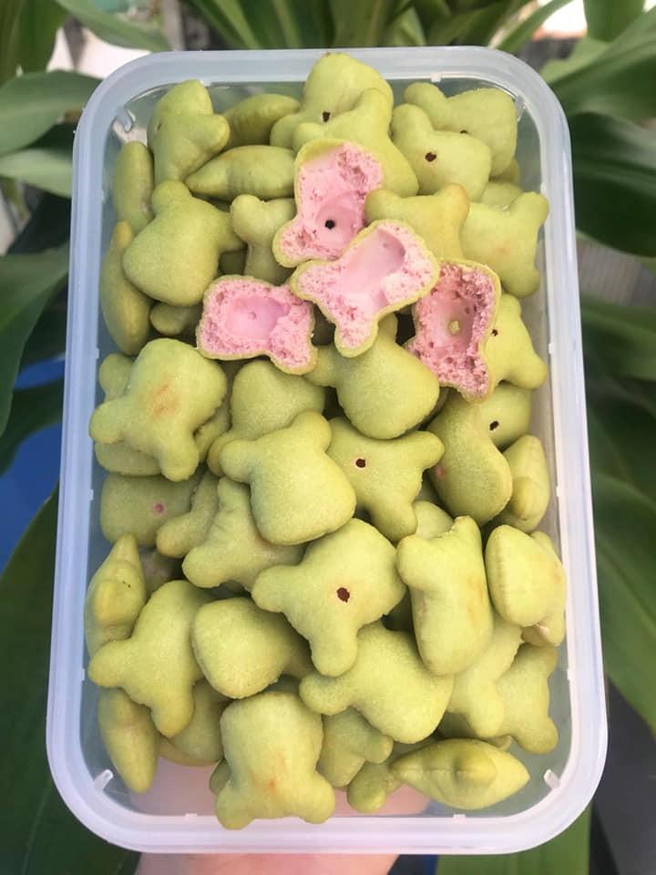Bánh Gấu Chùm Ngây Kem Dâu - Siêu Hot - 100G - GCND100