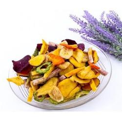 500g trái cây sấy khô thập cẩm nguyên miếng nguyên chất 100% không phẩm màu, hóa chất.Bảo đảm vệ sinh an toàn thực phẩm