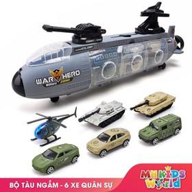 Đồ chơi Tàu ngầm chiến đấu Chứa 6 mẫu xe - Tàu ngầm chiến đấu
