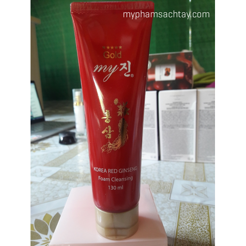 Sữa rửa mặt sâm đỏ my gold korean red ginseng 130ml
