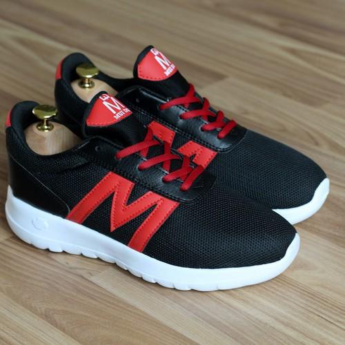 Giày thể thao nam g143 đen đỏ mđ