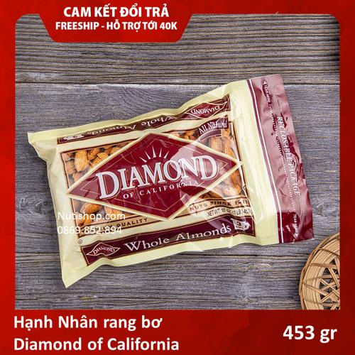 Hạnh nhân rang bơ diamond of california mỹ 453 g