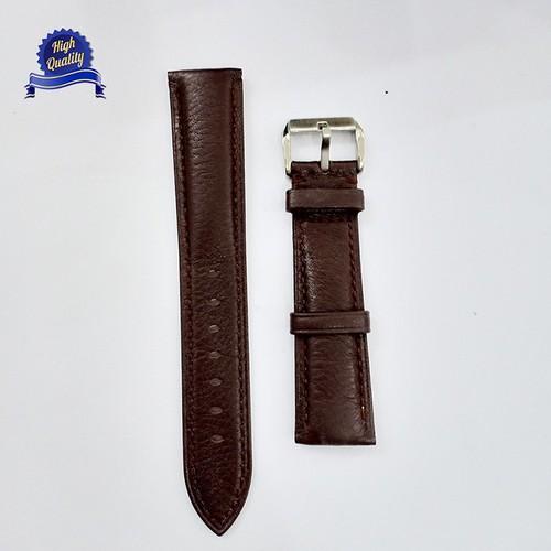 Dây đồng hồ da bò original size 20mm màu nâu cao cấp [tặng chốt]