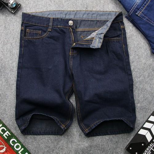 Quần short jean nam mđ q393 xanh đen