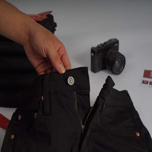 Quần jeans nam đen trơn xuất dư cambodia [ hàng hiệu xuất khẩu ]