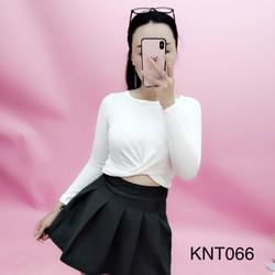 Áo Croptop Nữ Xoắn Eo Dài Tay Thời Trang OHS40