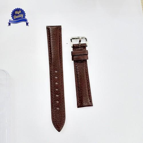 Dây đồng hồ da bò Original size 18mm màu NÂU CAO CẤP [TẶNG 2 CHỐT]