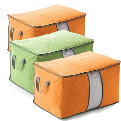 Set 2 túi đựng quần áo cỡ lớn có khóa chữ u bảo quản đồ tiện lợi