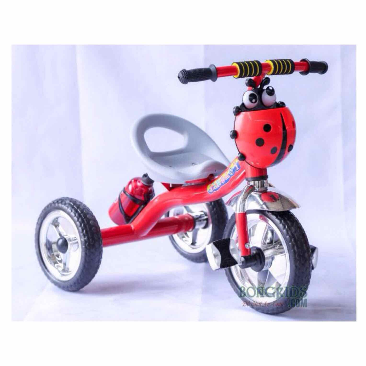 Xe đạp 3 bánh cho Bé hàng cao cấp có bình nước - giỏ con bọ