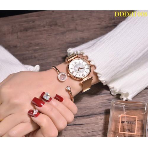 Đồng hồ thời trang dây kim loại  nam châm  kiểu dáng hàn quốc,  Tặng 3 món quà: 1 hộp đựng sang trọng, 1 pin dự phòng, 1 vòng may mắn - 11360365 , 20330192 , 15_20330192 , 99000 , Dong-ho-thoi-trang-day-kim-loai-nam-cham-kieu-dang-han-quoc-Tang-3-mon-qua-1-hop-dung-sang-trong-1-pin-du-phong-1-vong-may-man-15_20330192 , sendo.vn , Đồng hồ thời trang dây kim loại  nam châm  kiểu dáng h