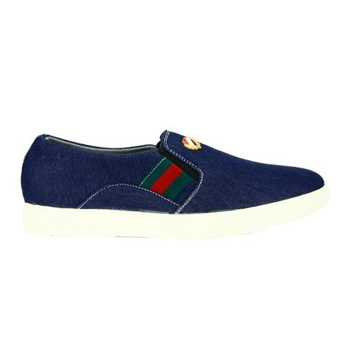 Giày lười nam mđ g279 xanh trắng