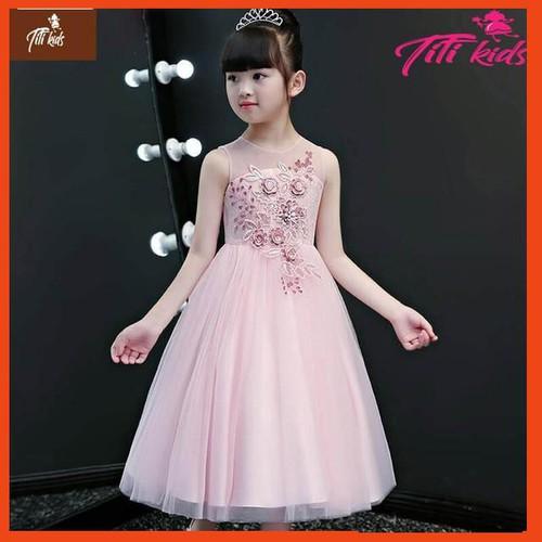 Đầm hồng hoa đào trước ngực xòe ngắn – váy đầm công chúa bé gái thiết kế cao cấp - 12527808 , 20338192 , 15_20338192 , 352000 , Dam-hong-hoa-dao-truoc-nguc-xoe-ngan-vay-dam-cong-chua-be-gai-thiet-ke-cao-cap-15_20338192 , sendo.vn , Đầm hồng hoa đào trước ngực xòe ngắn – váy đầm công chúa bé gái thiết kế cao cấp