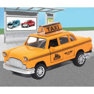 Ô tô Taxi mini đồ chơi trẻ em xe màu vàng tỉ lệ 1 36 bắng sắt chạy cót mở cửa xe có âm thanh và đèn - TAXI thumbnail