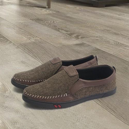 Giày lười nam g214 nâu mđ