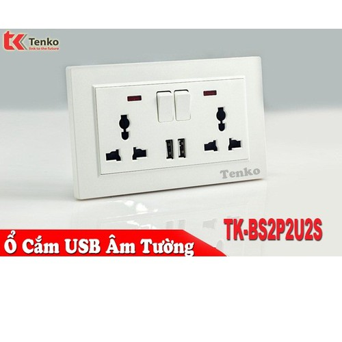 Ổ cắm điện âm tường chống giật có công tắc và usb tk-bs2p2u2s - 12524060 , 20332730 , 15_20332730 , 377000 , O-cam-dien-am-tuong-chong-giat-co-cong-tac-va-usb-tk-bs2p2u2s-15_20332730 , sendo.vn , Ổ cắm điện âm tường chống giật có công tắc và usb tk-bs2p2u2s