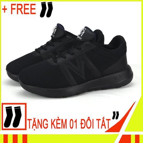 Giày thể thao nam 2019 g119 full đen free 1 đôi vớ nam ngẫu nhiên