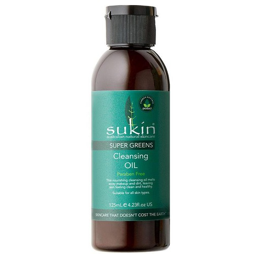 Sukin dầu tẩy trang sukin super greens cleansing oil 125ml