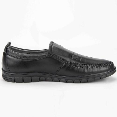 Giày lười da nam mđ g315 đen free 1 đôi vớ nam ngẫu nhiên
