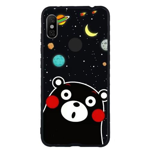 Ốp lưng điện thoại xiaomi redmi note 6 pro- 0345 bear03 - ốp lưng viền tpu dẻo
