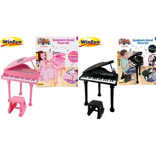 Đàn piano cổ điển kèm mic màu đen winfun 2045