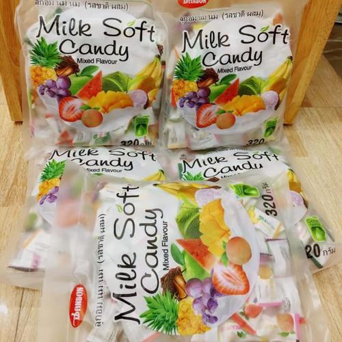 Kẹo mềm trái cây milk soft candy thái lan