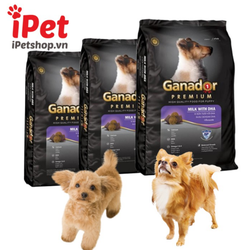 Thức Ăn Cho Chó Con Hạt Khô Ganador Puppy 400g Vị Sữa Và DHA - iPet