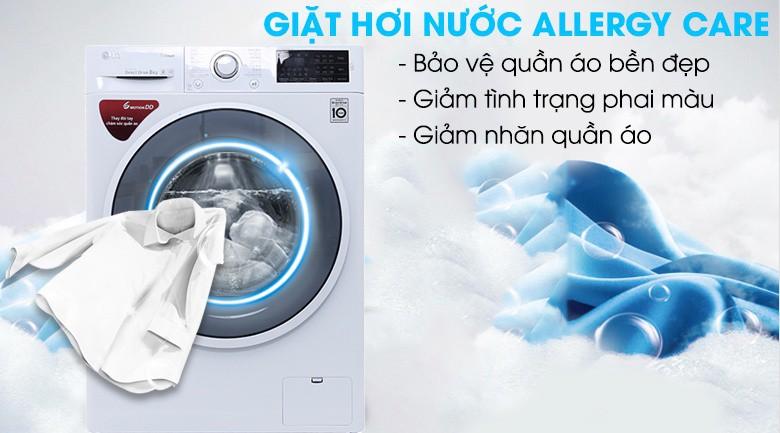 Giặt hơi nước - Máy giặt LG inverter 8 kg FC1408S4W2