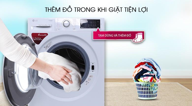 Dễ dàng thêm đồ giặt - Máy giặt LG inverter 8 kg FC1408S4W2