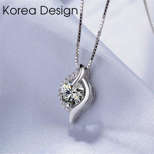Dây chuyền nữ mặt đá kim cương lấp lánh - trang sức bạc s925