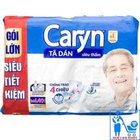 [CHÍNH HÃNG] Bỉm Người Già - Tã Dán Caryn Size M-L40 - Siêu thấm, gói lớn siêu tiết kiệm - 8934755040351