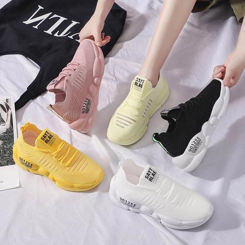 Giày Sneaker Nữ Đế Độn Vải Lưới Thoáng Khí Năng Động