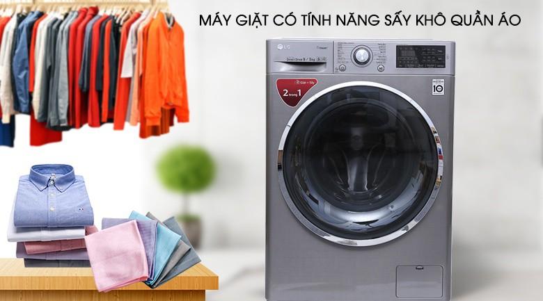 Chức năng sấy - Máy giặt sấy LG Inverter 9kg FC1409D4E