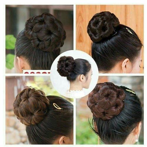 Búi tóc giả hoa