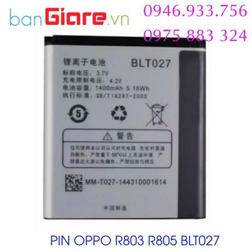 Pin oppo blt027 r803 r805 - 12019741 , 19627303 , 15_19627303 , 75000 , Pin-oppo-blt027-r803-r805-15_19627303 , sendo.vn , Pin oppo blt027 r803 r805