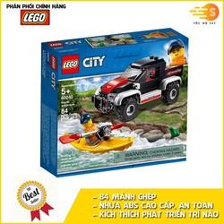 Bộ đồ chơi lắp ráp chuyến phiêu lưu cùng thuyền Kayak 84 mảnh Lego City 60240