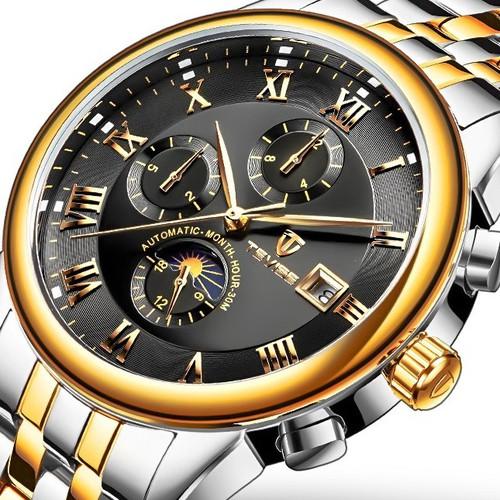 Đồng hồ cơ nam tevise chính hãng, mẫu mã sang trọng, bảo hành 1 năm