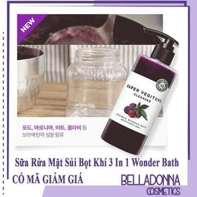 Sữa Rửa Mặt Rau Củ 3 in 1 Tẩy Trang - Rửa Mặt - Thải Độc Tố Wonder Bath Super Vegitoks Cleanser 300ml - wonder.raucai-300-Màu Tím