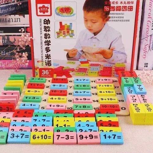 Đồ chơi domino toán học 36 chi tiết
