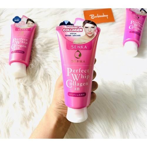 Sữa rửa mặt perfect whip collagen hồng