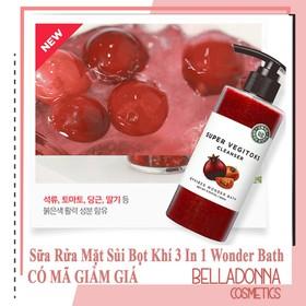 Sữa Rửa Mặt Rau Củ 3 in 1 Tẩy Trang - Rửa Mặt - Thải Độc Tố Wonder Bath Super Vegitoks Cleanser 300ml - wonder.raucu-300-maudo