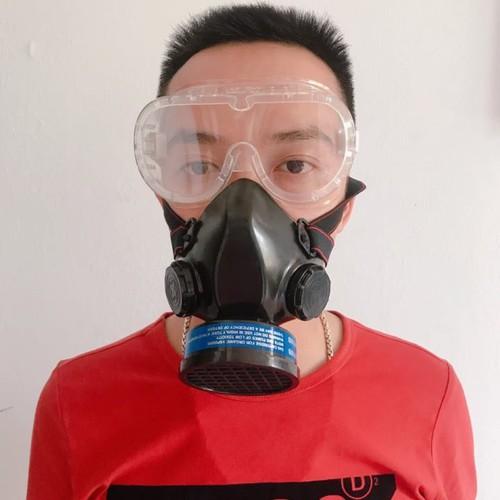 Mặt nạ phòng chống độc 1 phin lọc kèm kính để xịt thuốc - chống hóa ch