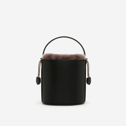 Vascara - bucket bag viền lông - sat 0215 - màu đen - vascara
