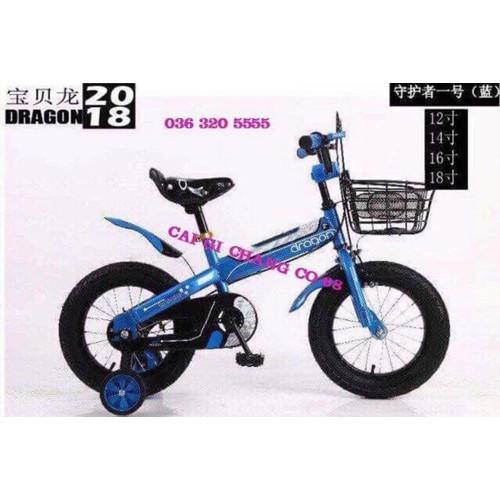 Xe đạp 4 bánh cho trẻ em từ 3 tuổi đến 5 tuổi hàng cao cấp thương hiệu dragon