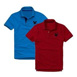 Áo thun nam logo mẫu mới Combo 2 áo Xanh dương Đỏ đô XSAK