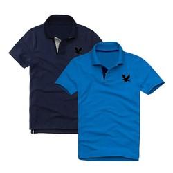 Áo thun nam logo mẫu mới Combo 2 áo Xanh đen Xanh dương XSAK