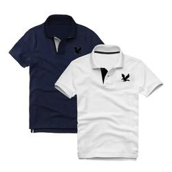 Áo thun nam logo mẫu mới Combo 2 áo Xanh đen Trắng XSAK