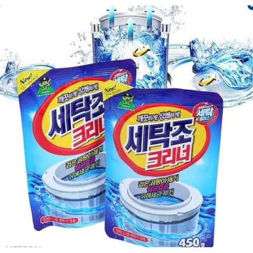 Bộ 2 bột vệ sinh lồng máy giặt hàn quốc 450g